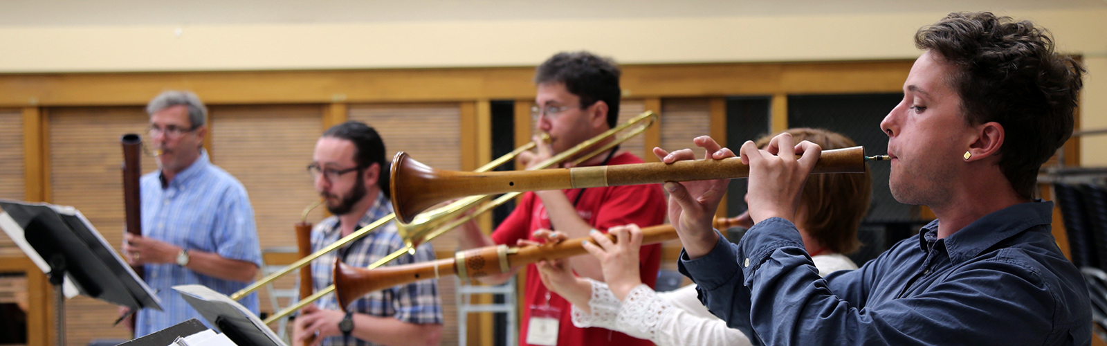 Advanced loud band participants play during a workshop at MEMF 2016